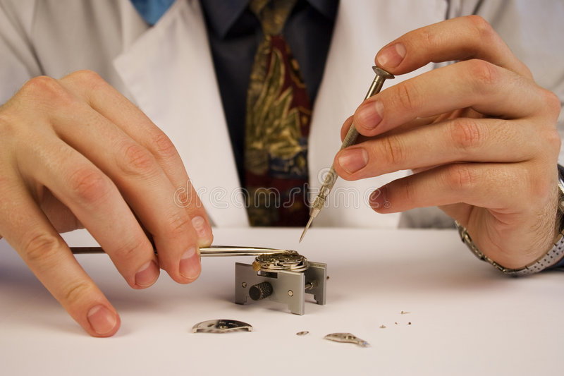 reparera watchen royaltyfria foton
