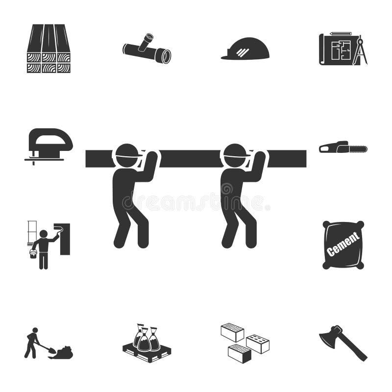 Reparieren Sie Arbeitsikone Ausführlicher Satz Baumaterialikonen Erstklassiges Qualitätsgrafikdesign Eine der Sammlungsikonen für vektor abbildung