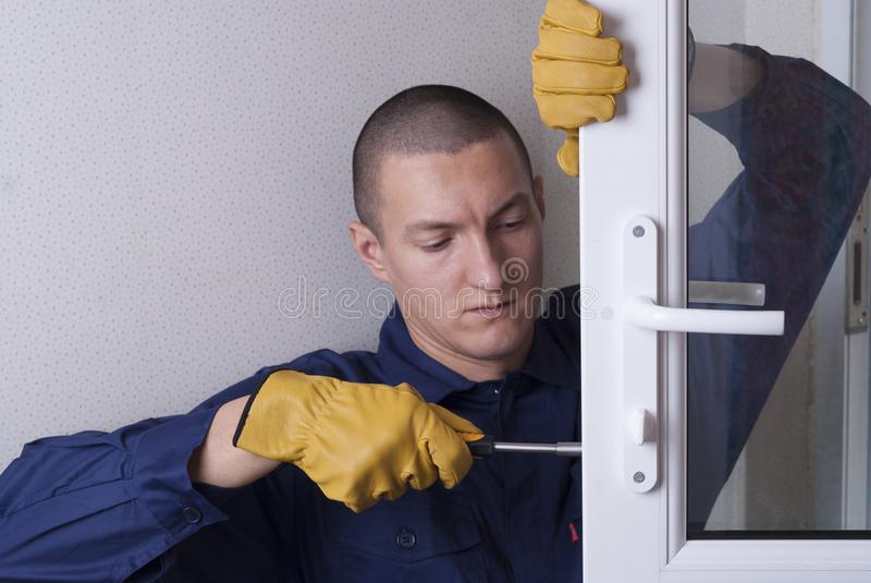Reparieren Sie Türschloss stockfotos