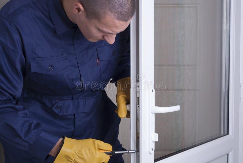 Reparieren Sie Türschloss lizenzfreies stockbild