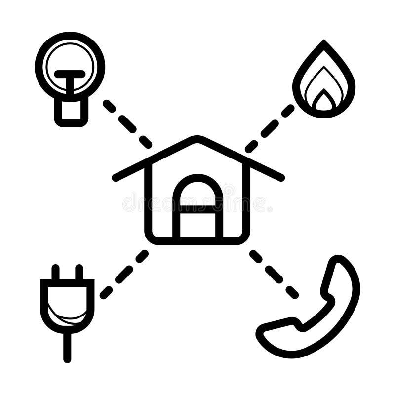 Reparo da casa, construção da casa ilustração do vetor