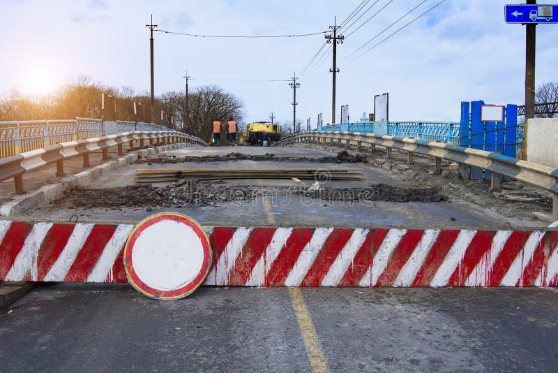 Reparo da ponte fotografia de stock