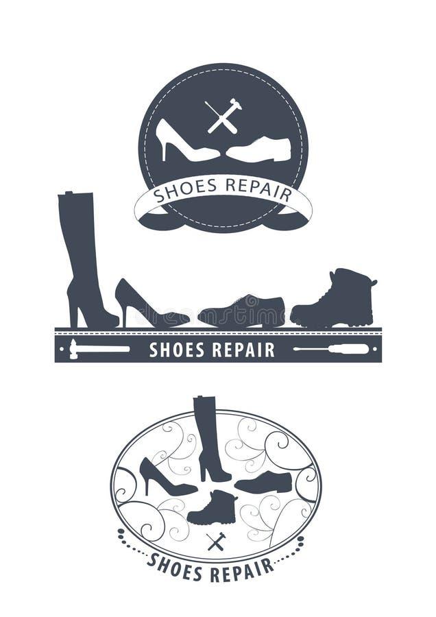 Reparo das sapatas ilustração royalty free