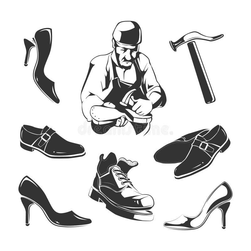 Reparo das sapatas ilustração stock