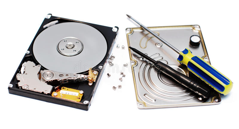 Reparo de HDD foto de stock
