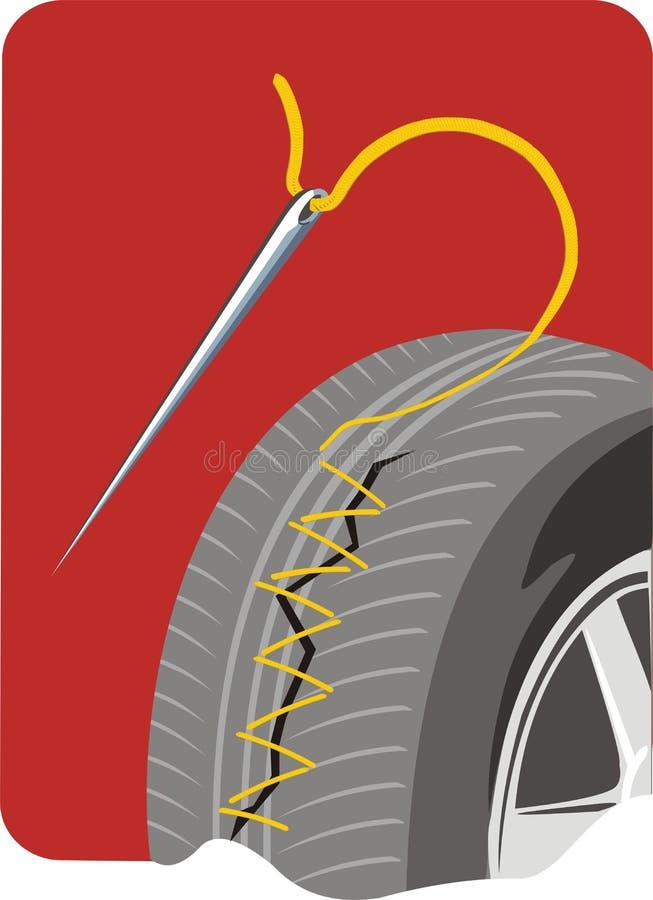 Reparo do barramento do carro ilustração do vetor