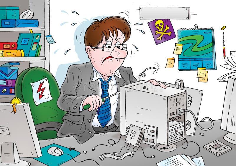 Reparo do computador ilustração royalty free