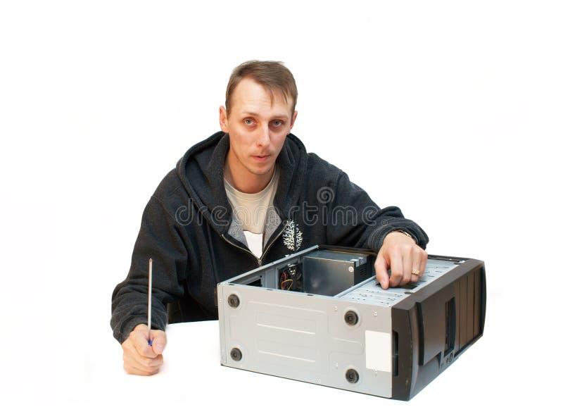 Reparo do computador fotos de stock