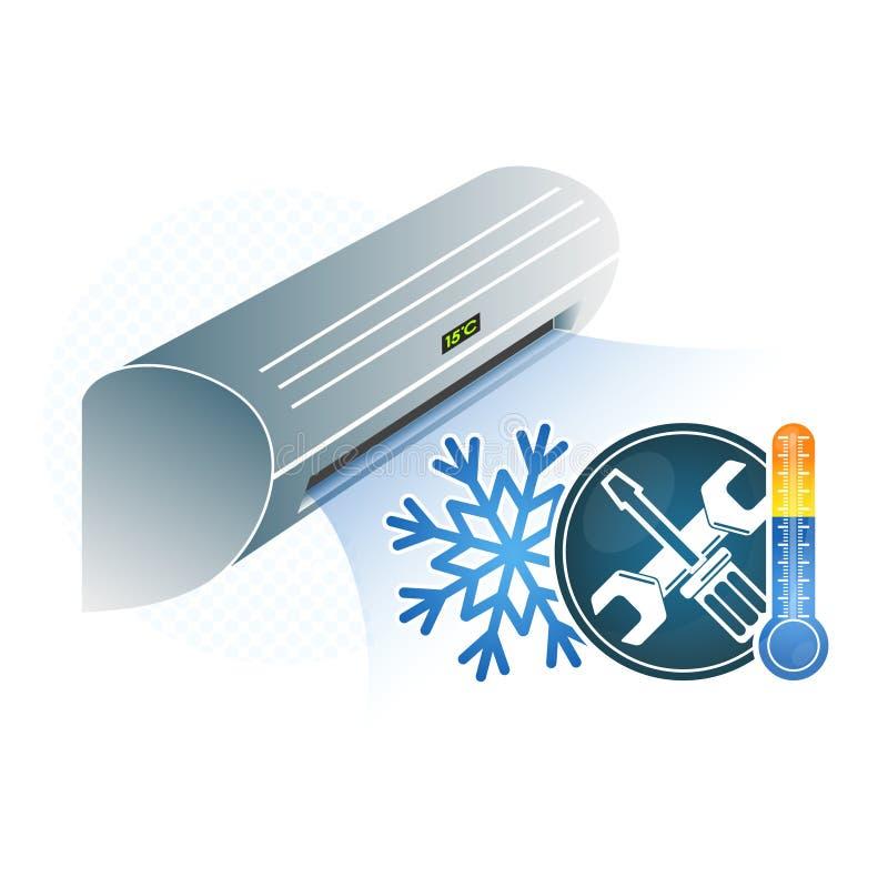 Reparo do condicionamento de ar ilustração stock