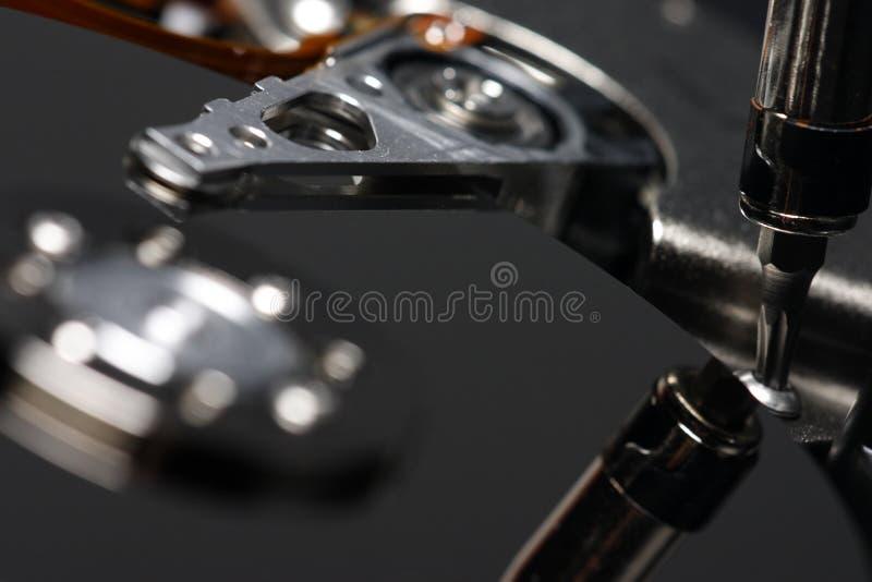 Reparo do disco rígido fotos de stock