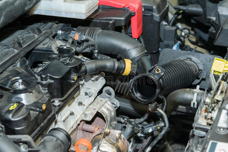 Reparo do motor de automóveis foto de stock royalty free