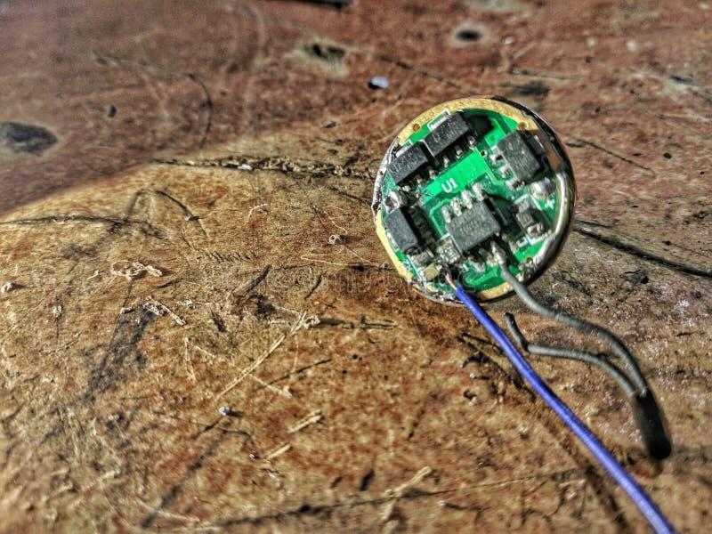 Reparo do motorista do diodo emissor de luz fotografia de stock royalty free