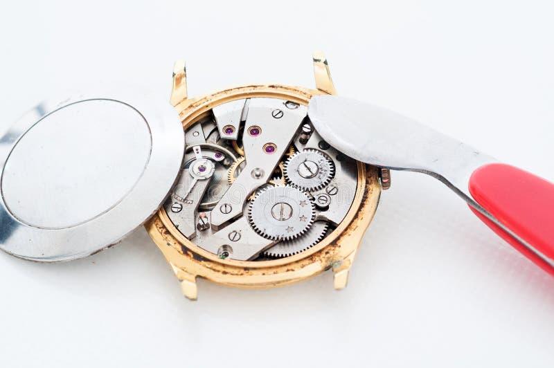 Reparo do relógio fotografia de stock royalty free