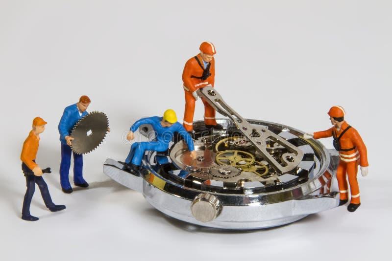Reparo do relógio fotografia de stock
