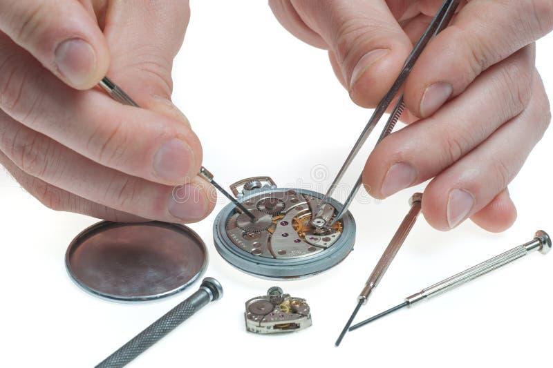 Reparo do relógio de bolso foto de stock royalty free