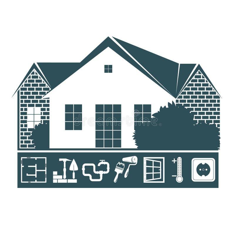 Reparo e manutenção da casa ilustração do vetor