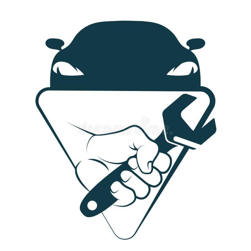 Reparo e manutenção do carro ilustração stock