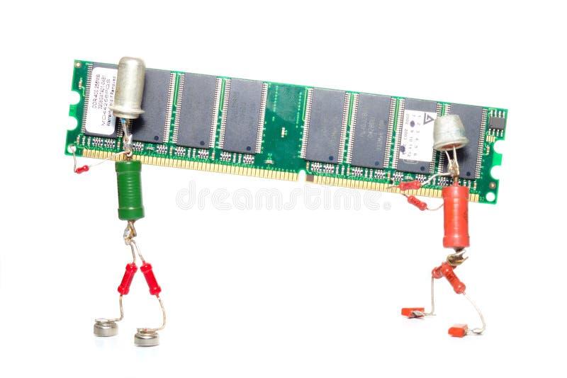 Reparo ou melhoramento da memória imagens de stock