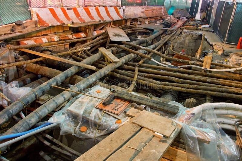 Reparos de serviço público subterrâneos fotos de stock