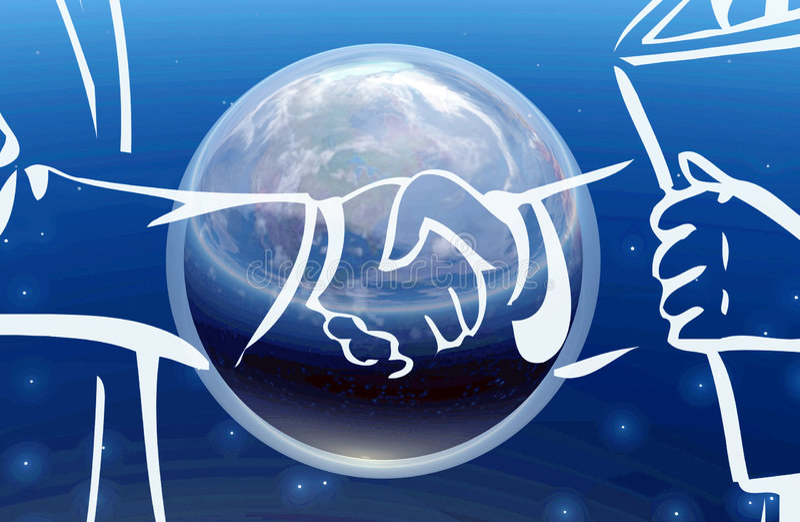 Reparto de asunto II global ilustración del vector