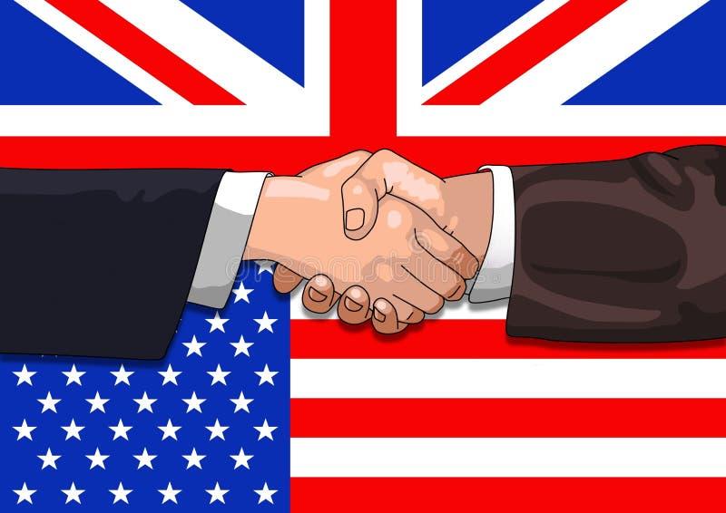 Reparto de Reino Unido LOS E.E.U.U. ilustración del vector