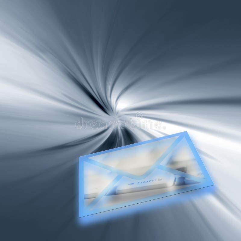 Reparto del correo del Internet ilustración del vector
