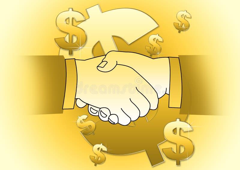 Reparto del dinero stock de ilustración