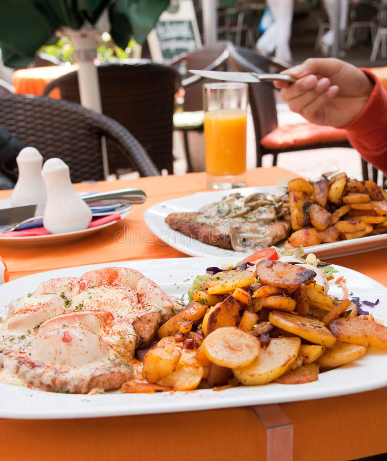 repas allemand image stock