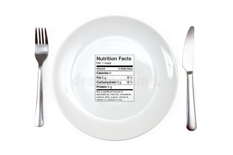 Repas avec 0 calories photos libres de droits