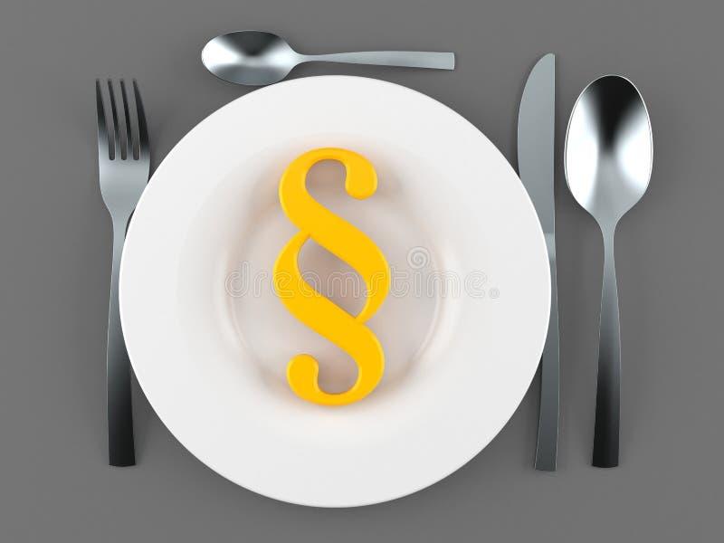 Repas avec le symbole de paragraphe illustration libre de droits
