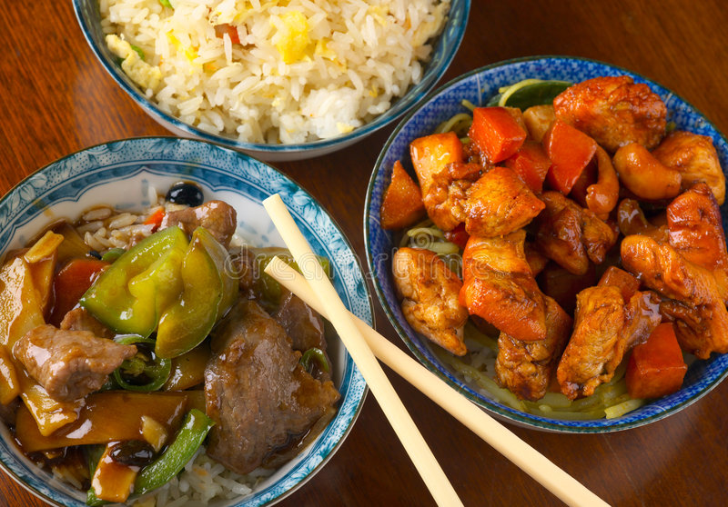 Repas chinois délicieux image stock