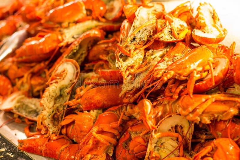 Repas cuit de homard photo stock