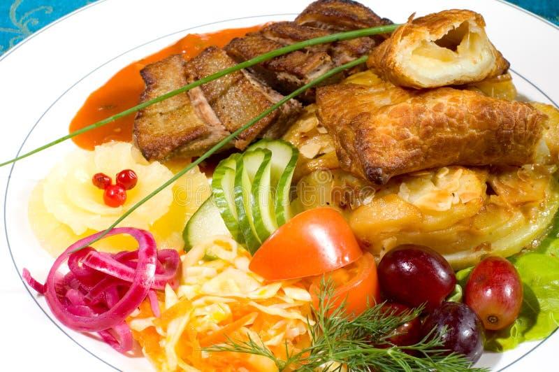 Repas délicieux ! - 10 photos stock