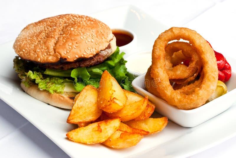 Repas d'hamburger image libre de droits