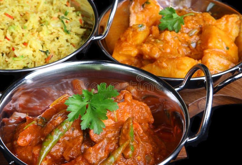 repas d'Indien de nourriture de cari photo libre de droits