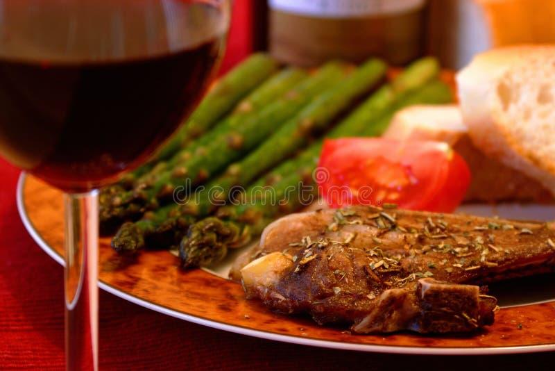 Repas de côtelette de porc photos libres de droits