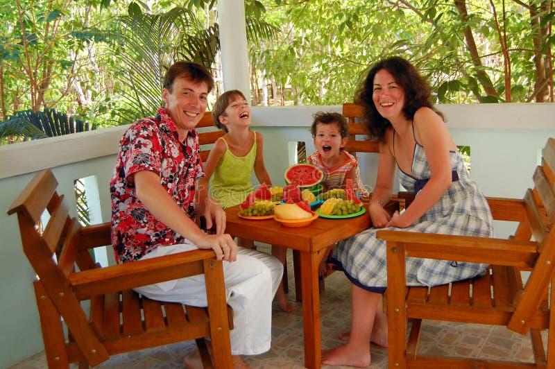 Repas de famille photos stock