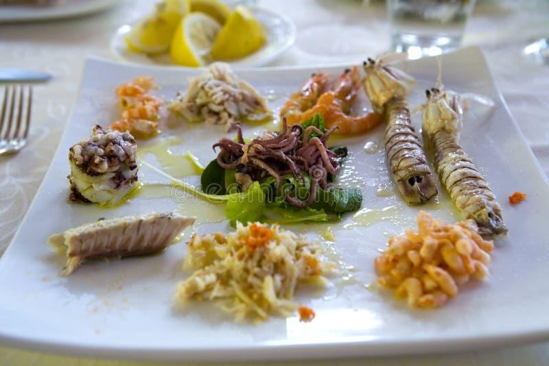 Repas de fruits de mer photographie stock libre de droits