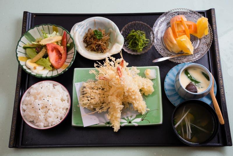 Repas de style japonais de Tempura photo stock
