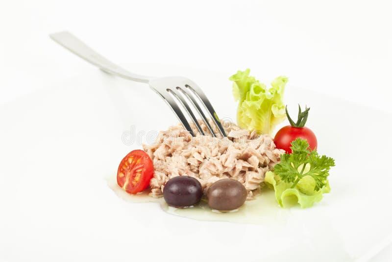 Repas de thon image stock