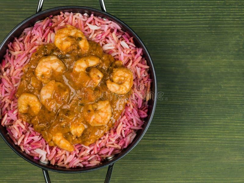 Repas du Roi Prawn Masala Curry images stock