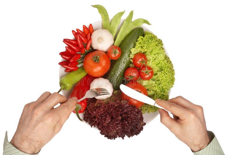 Repas sain avec le chemin de découpage - Mahlzeit image stock