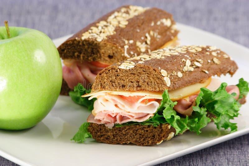 Repas sain de sandwich images libres de droits