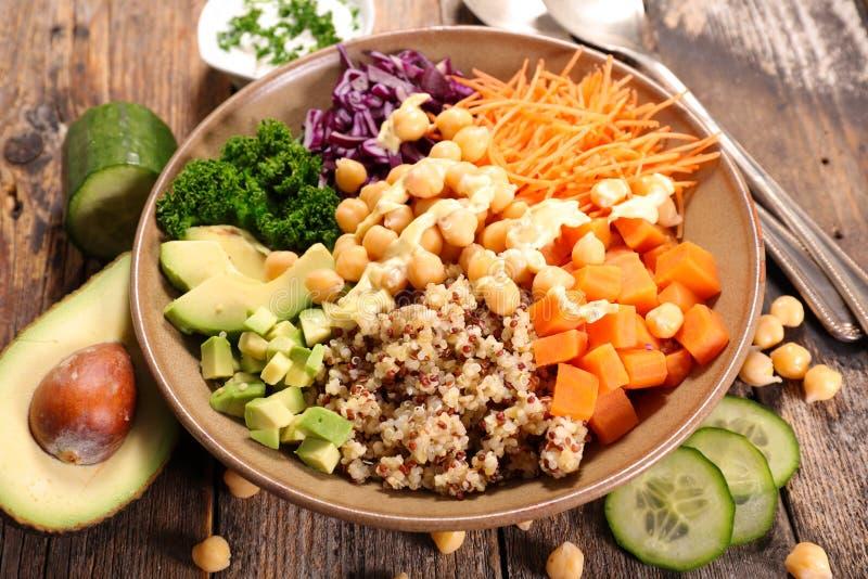 Repas végétarien de cuvette photos libres de droits