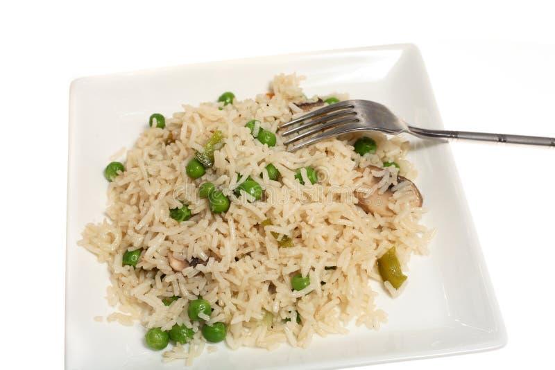 Repas végétarien de riz frit photographie stock libre de droits