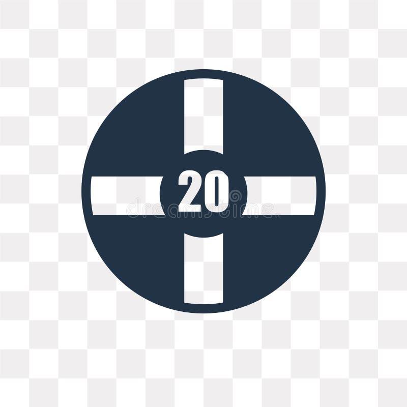 Repassez l'icône de vecteur de pousse d'isolement sur le fond transparent, fer illustration libre de droits