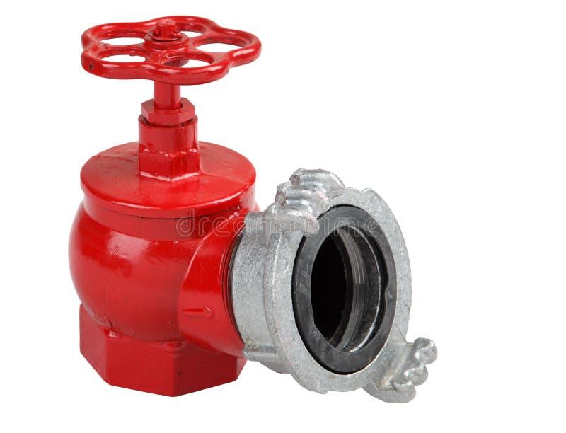 Repassez la valve de bouche d'incendie avec la prise pour la connexion du tuyau d'incendie images stock