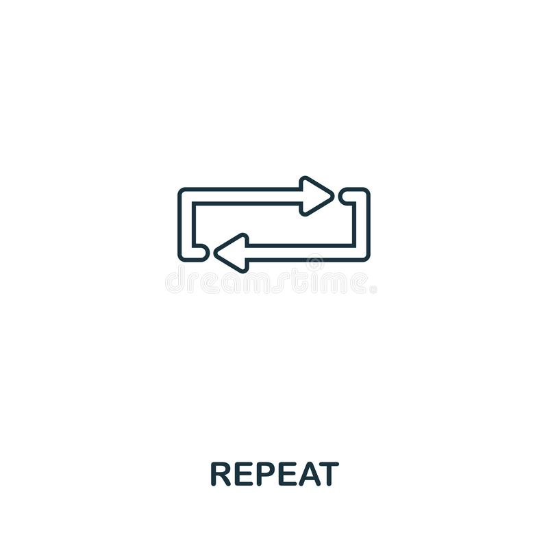 Repeat creative icon. Simple element illustration. Repeat concept symbol design from audio buttons collection. Perfect for web vector illustration