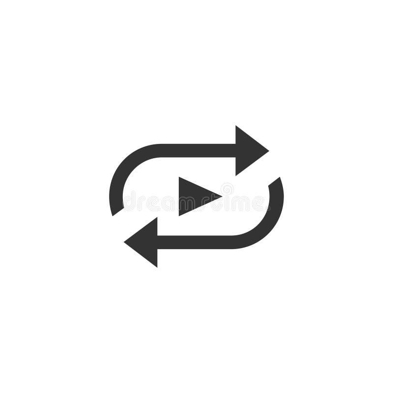 Repeat icon in simple design. Vector illustartion royalty free illustration