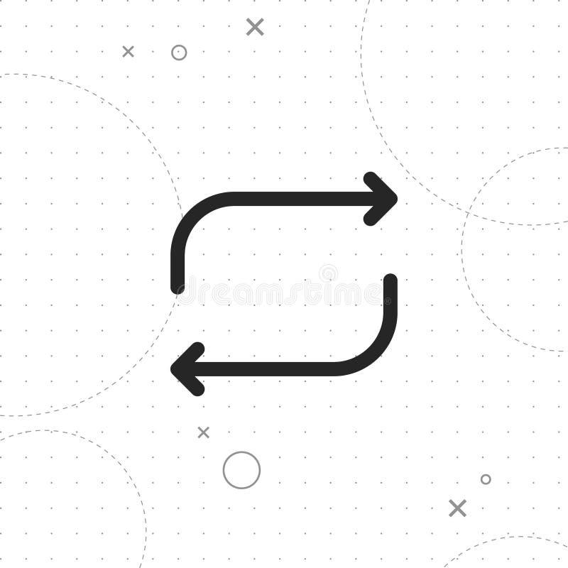 Repeat icon stock illustration